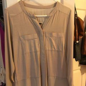 Ann Taylor portofino tan blouse